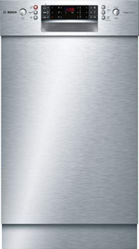 Bosch SPU66PS00E Serie 6 Unterbau-Geschirrspüler / A++ / 45 cm / Edelstahl / 197 kWh/Jahr / 9 MGD / SuperSilence / EmotionLight / VarioBesteckkorb / Home Connect