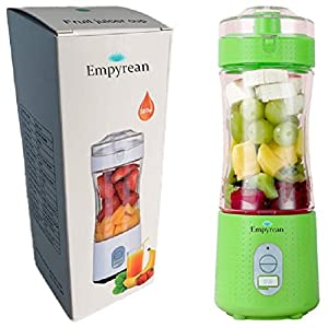 EMPYREAN Portable Juicer Blender for Smoothies and Shakes USB Rechargeable Powerful 4000 mAh Six 3D Blades 4000 mAh
