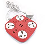 Axmon Extension Cord with 2 USB Charging Ports and 6 Socket - 10