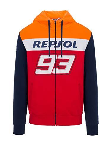 """felpa honda Felpa con Cappuccio Uomo Honda REPSOL Marc Marquez 93"""" - Rosso - TG. M"""