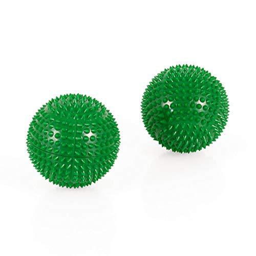AFH-Webshop 631504-04 Magnet Akupunktur Massage Kugeln, circa 55 mm Durchmesser, grün, 2er Set