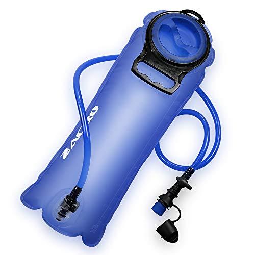 Zacro Trinkblase 2,5L Wasserblase, Hydration Bladder mit Isoliertem Beissventil und Automatischem Absperrventil(BPA Freier Wasserbehälterbeute)