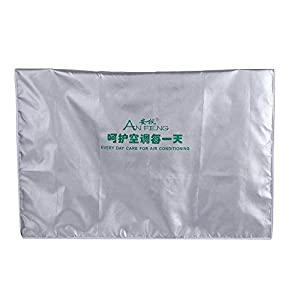 Funda para Aire Acondicionado, unidad de ventana de inicio de cubierta protectora impermeable del acondicionador de aire exterior a prueba de polvo impermeable(2p(80 * 26 * 57))