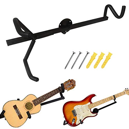 Soporte horizontal de pared para guitarra eléctrica, acústica, clásica, bajo y ukelele,...