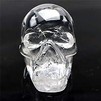 極上品 ロッククリスタル スカル 骸骨 水晶 ドクロ 置物〔 天然石 パワーストーン アクセサリー 〕