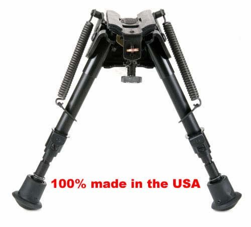 Harris Bipods BRMS, extends from 6' to 9' Swivels (tilts), Notched Legs Spring Loaded