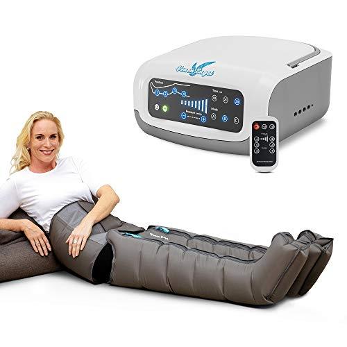 Vein Angel 4 Premium apparecchio per massaggi con fascia addominale & gambali, 4 camere d\'aria disattivabili, pressione & durata regolabili, 3 programmi, no pressoterapia