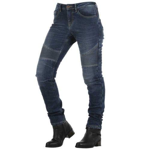 jeans donna moto Overlap Imola Smalt Jeans Donna Omologato Strada