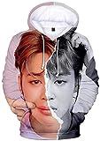 Silver Basic Fille Sweat Kpop Girl Group BTS Suga V Jimin Army Bangtan Boys Populaire Shirt pour Enfants Adultes M,Jimin-4