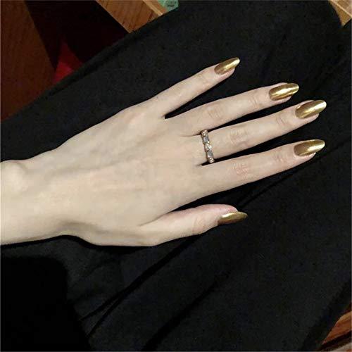 Kunstnagels, Acryl, 24 Stuks 1 G Lijm, Ballerina Kunstnagels In Barokstijl, Geschikt Voor Doe-het-zelf Salon, Bruiloft, Dating, Feest of Weekendgebruik (goud) (Gouden-1)