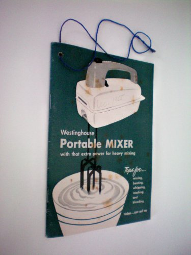 VINTAGE - Westinghouse Portable Mixer with that extra power for heavy mixing - recipe/cookbook