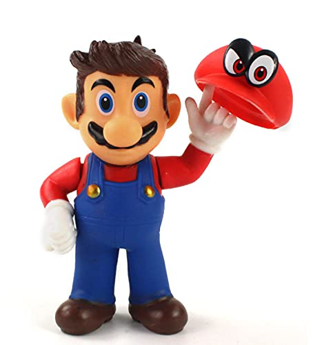 ZCFJ Super Mario Bros Action Figure Odyssey Cappy Bowser 14CM,Koopa Game Toys Figurine Model Cowboy Cappy Cosplay Dolls Toys