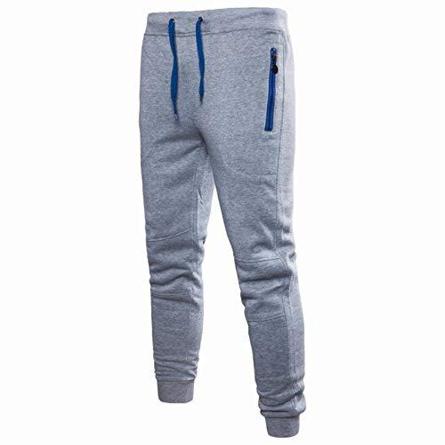 Pantalones Casuales para Hombre Otoño e Invierno Simple Color sólido Diseño de Cremallera Bolsillo Cordón Cintura elástica Estirar Pantalones Casuales Adecuado para Todos los Deportes 3XL
