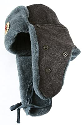 Arctic Circle Russian Military Ushanka Winter Hat 56 Soviet Star