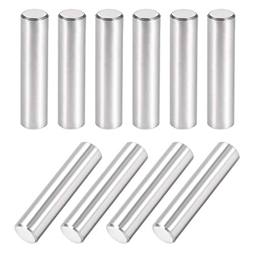 uxcell 10Pcs 8mm X 35mm Dowel Pin 304 Stainless Steel Cylindrical Shelf Support Pin Fasten Elements Silver Tone