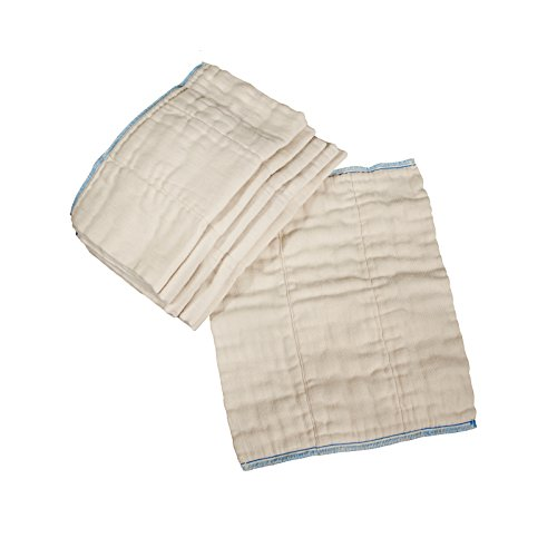 OsoCozy Unbleached Prefold Cloth Diapers – 12 Count, Infant - 4x8x4 (7-15 lbs)