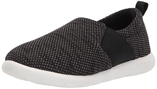 isotoner Women's Zenz Balance Sport Mesh Slipper, Slip-On Shoe, Black, 11