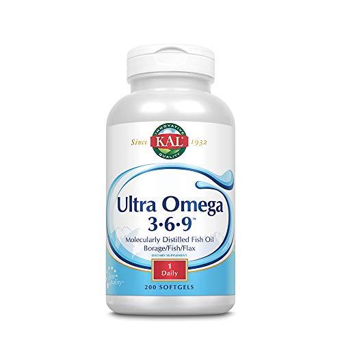 KAL 1200 Mg Ultra Omega 3-6-9 Softgels, 200 Count