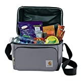 Carhartt Deluxe Dual Compartment Insulated Lunch Cooler Bag, Grey