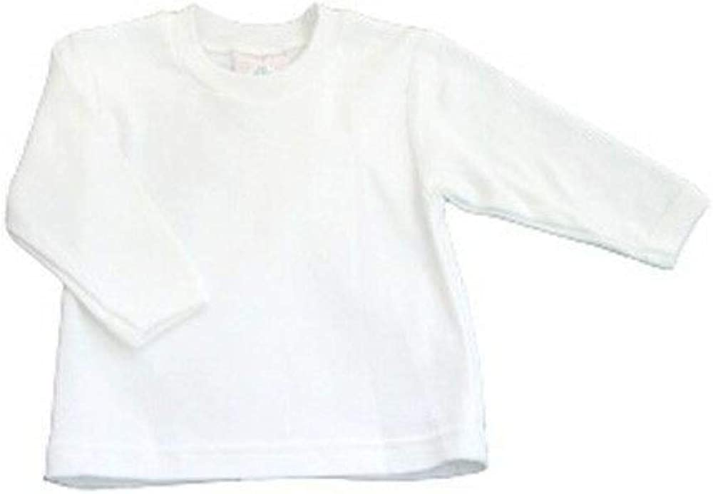 Baby Jay 100% Cotton White Long Sleeve Round Neck Long Sleeve Tee T-Shir