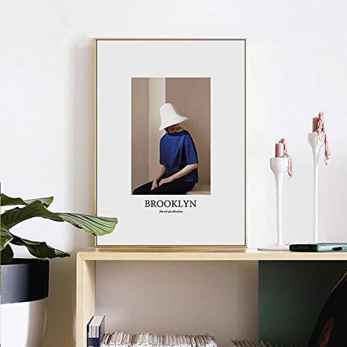 MXK Impresiones de Lienzo, póster y Pintura, Arte Moderno, Moda, Vogue Girl, decoración del hogar, Cuadro de Pared para Sala de Estar, 50x70cm, sin Marco