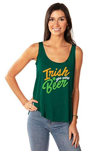Tipsy Elves Green Women's Tank Top for St Patricks Day Irish You were Beer Size XX-Large