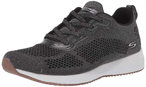 Skechers Damen Bobs Squad - Glitz Maker Sneaker, Schwarz (Black Sparkle Engineered Knit Blk), 39 EU