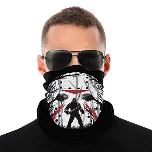 Windproof Face Shield,Jason Voorhees Sweatband, Pasamontañas De Moda para El Cuello para Protección UV,25x50cm