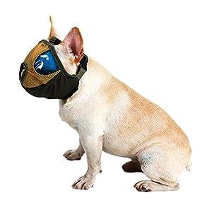 respirant pour animal domestique Chien Muselières Maille Bouche Muselière Panier pour chiens de court museau
