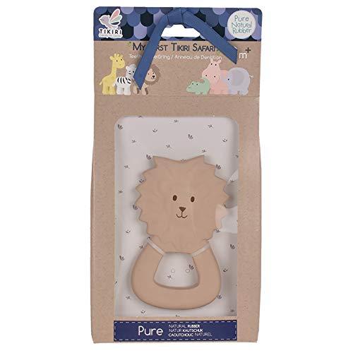 Tikiri TR-91506 8591506 Kautschuk Beißring Löwe, Zahnungshilfe aus Naturkautschuk, für Babys ab 0+ Monaten