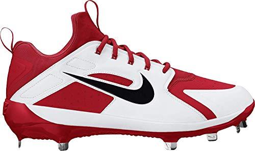 Nike Zapatillas de béisbol Alpha Huarache Elite para hombre, rojo/negro/blanco, talla 8 M (US)