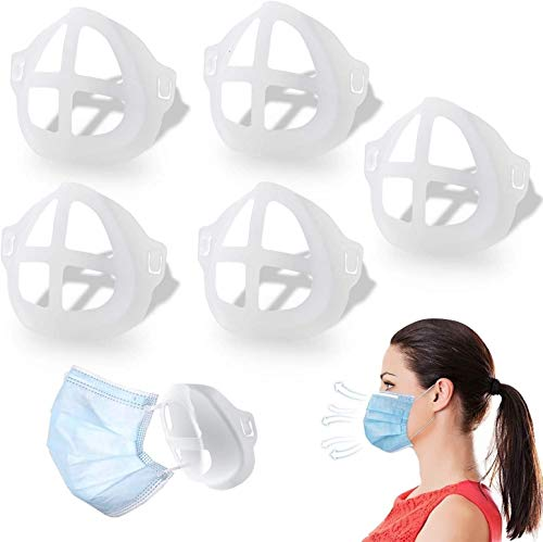 Protector de lápiz labial facial 3D, marco de soporte interno de silicona reutilizable para el rostro, soporte interno para evitar la barra de labios en m-a-s-k(15 pzs)
