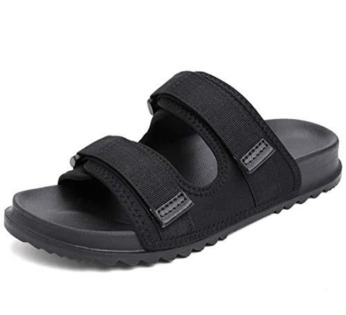 Zapatos Diabéticos Anchas Edema Hinchazón Zapatillas Comfort Zapatos Mayores Calzado Quirúrgico Ajustables Zapatos Ortopédicos Anti Slip Sandalias De Punta Abierta para Diabéticos,Negro,46