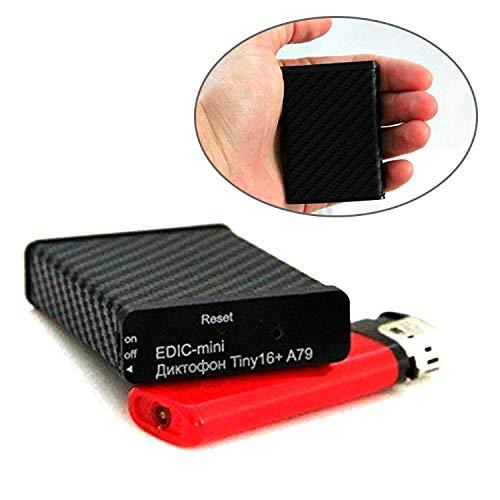 Grabadora de Voz Espía Profesional Edic Mini Tiny 16+ A79 | Alta Calidad de Audio y Sonido