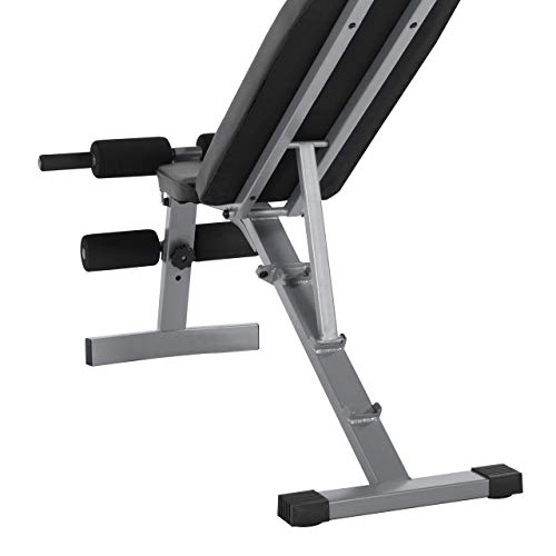 WF Athletic Supply Adjustable Weight Bench, Fitness Training Weight Bench, Multifunctional Adjustable Utility Weight Bench for Full Body Workout, Incline/Decline Bench Press for Home Gym