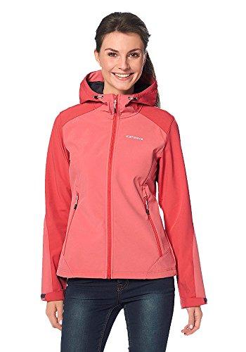 Icepeak Damen Softshelljacke Softshell Jacke Rot Weiche Innseite (Rot, 38)