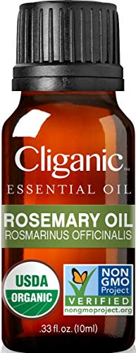 Cliganic Organic Rosemary Essential Oil, 100% Pure Natural Undiluted,...