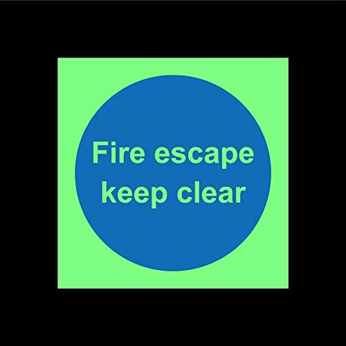 Vuur ontsnappen houden duidelijk deur veiligheidsbord - 3mm Aluminium teken 300mm x 300mm