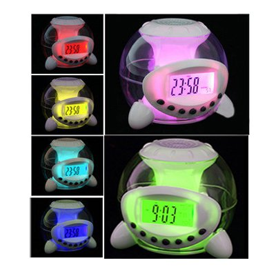 DACHENGJIN Reloj Despertador 6 Color Sonido Natural Calendario Termómetro Cuenta Regresiva
