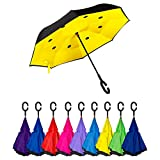 Golden Lemur Paraguas Invertido. Paraguas Originales Mujer y Hombre de Colores....