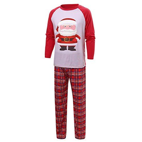Ahomi Home Style 2psc ouders kind kerst pyjama's set tops + broek (Dad M)