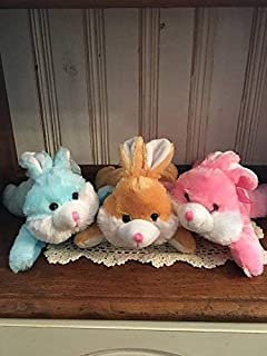 b93039960b10 Adorable Personalized   Small Easter Plush   Stuffed Laying Down Toy    Bunny   Duck