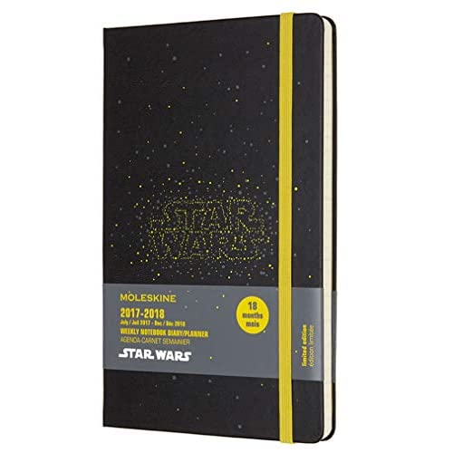 Moleskine Star Wars Agenda Taccuino Settimanale, 2018, 18 mesi, Nero