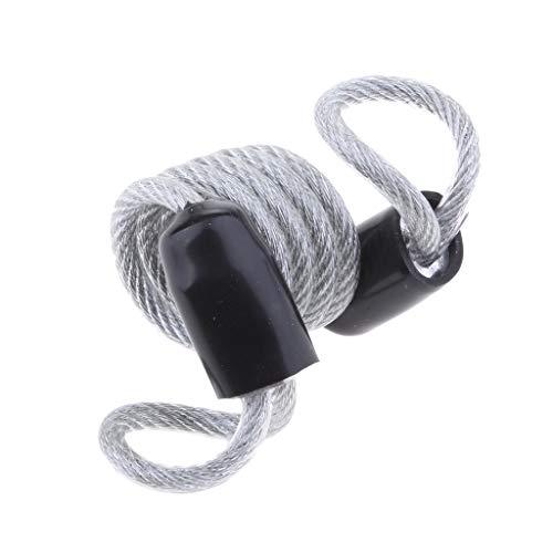Baoblaze Cable de Rappel Anti-vol Corde à Ressort Extensible 0.6 M - Argenté