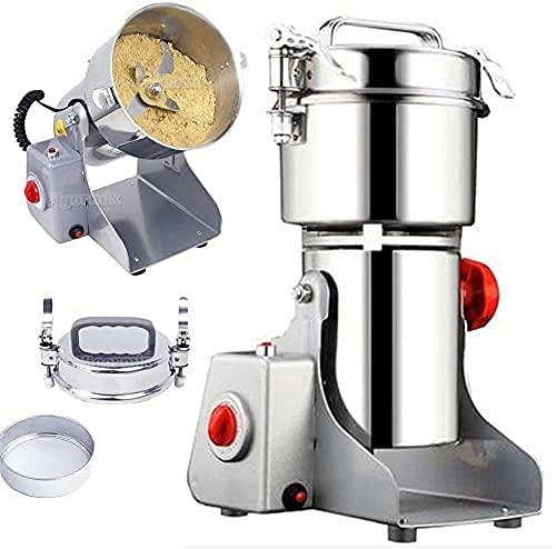 CFDZCP Molinillo Cafe Molinillo de Acero Inoxidable Máquina de espía eléctrica de Acero Inoxidable 30SEC Máquina de Polvo superfina rápida para Familia y procesamiento y Labo