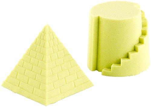 Playtastic Magischer Sand: Kinetischer Sand, fein, gelb, 500g (Magische Sand-Knete, kinetisch)