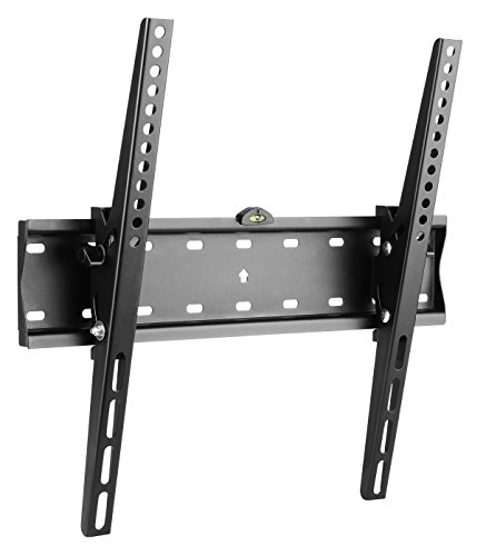 RICOO N2144, TV Wandhalterung, Flach, Neigbar, Universal 32-65 Zoll (81–165cm), TV-Halterung, Slim, Curved LCD LED Fernseher, VESA 200x200-400x400