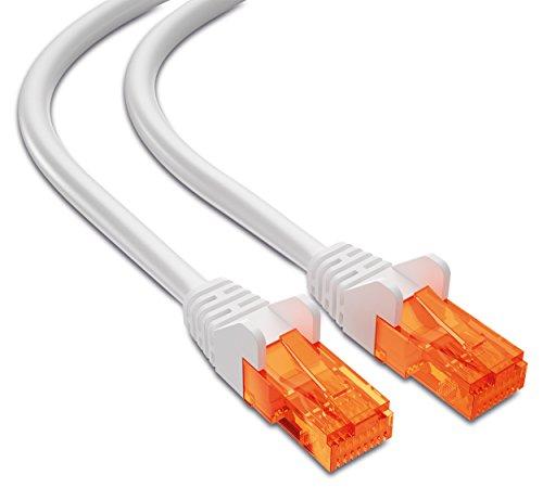 mumbi 23508 Cat.5e S/FTP Cavo di Rete Ethernet Patch con connettori RJ-45 10.0m, Bianco