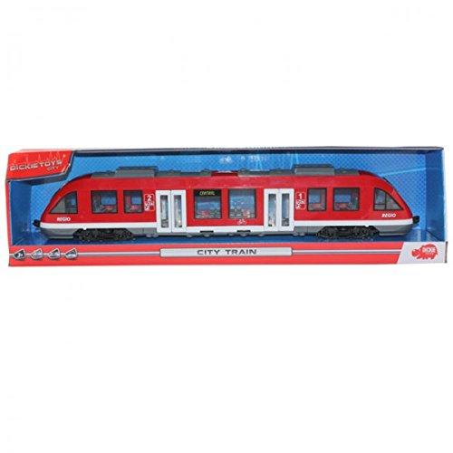 DICKIE City Train Regio Straßenbahn Bahn Zug Tür Dach zum Öffnen 45cm Spielzeug