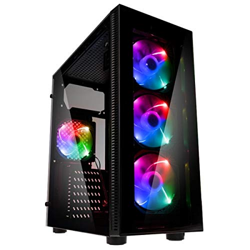 Megamania PC Gaming AMD Ryzen 5 3400G, Ordenador de sobremesa 4.2GHz Turbo Quad Core | 16GB DDR4 | 1TB HDD | Gráfica AMD Radeon Vega RX 11 | WiFi Dual Band